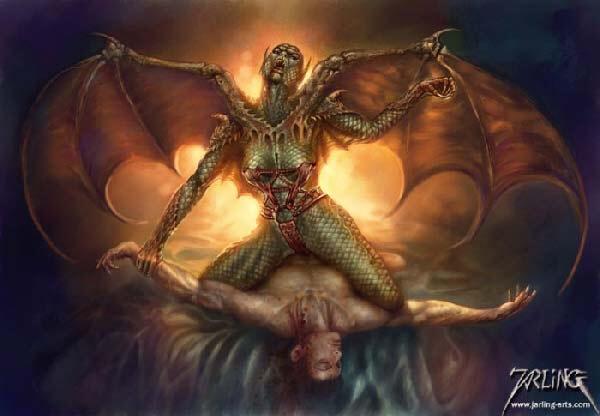 Demonic satanic rape